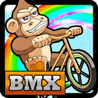 BMX Crazy Bike - Get over all the obstacles with this monkey on a bike