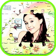 Cartoon Ariana Puzzle Game