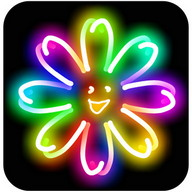 Kids Doodle - Color & Draw - Draw on a touchscreen with neon paintbrushes