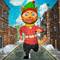 Leo Cat Ice Run - Frozen City