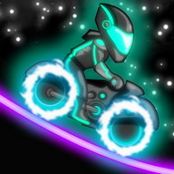 Neon Motocross - A futuristic 2D motorcycle game