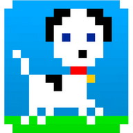 Pet Puppy Dog - This pixelated puppy wants you to pet him