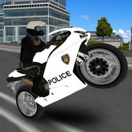 Police Moto Bike Simulator 3D - Become a police hero of the concrete jungle in this motorcycle game