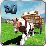 Pony Horse Cart Simulator 3D