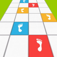 Rainbow Tiles - Walk or run, but DON'T step where you're not supposed to!