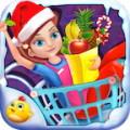 Supermarket Girl On Christmas