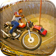 Well Of Death Car Stunt Rider