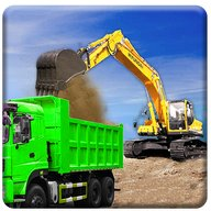 le sable excavatrice un camion conduite sauvetage