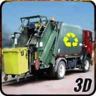 City Garbage Dump Truck Driver