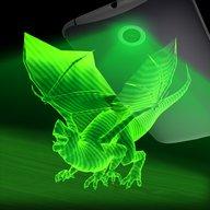 Dragon hologram laser camera simulator