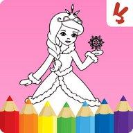 Çocuklar için boyama kitabı: Prensesler