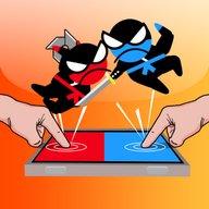 Melompat Ninja Pertempuran -Pertempuran Dua Pemain