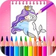 Mermaid Coloring Book & Drawing Book