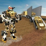 US Army Robot Transport Truck Driving Games