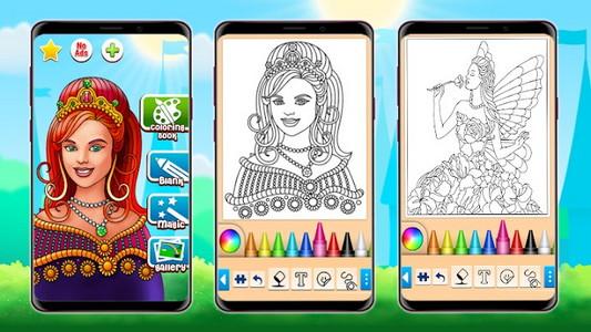 Coloriage Princesse Android Jeu Apk Com Princess Coloring Par Coloring Games Telecharger Sur Votre Mobile Depuis Phoneky