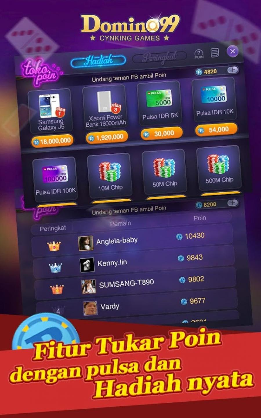 Domino Qiuqiu 99 Pulsa Free Android Game Apk Com Zhijian Domino1 By Cynking Games Download To Your Mobile From Phoneky