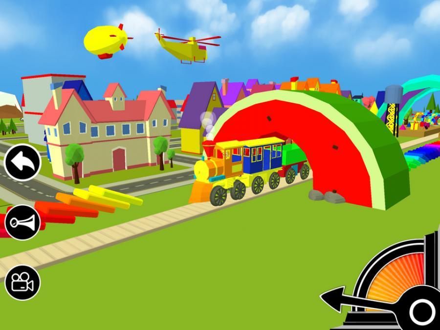 3D Permainan Kereta Api mainan
