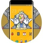 Dr.Crazy cartoon theme for Galaxy M20