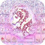 Glitter Unicorn Keyboard Theme