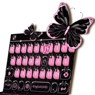 ثيم لوحة المفاتيح Pink Black