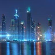 Dubai vào ban đêm Hình Nền