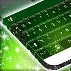 Green Galaxy Keyboard Theme