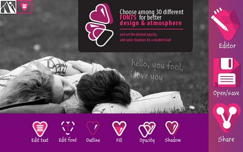 Love Text on Pics - Watermark