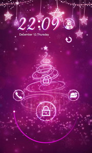 Shining Christmas Locker theme