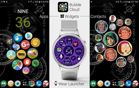 Bubble Cloud Tile Launcher Watchface (WearOS)