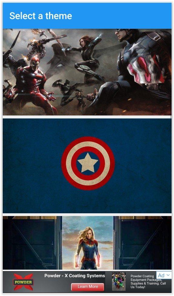 Marvel Keyboard Themes