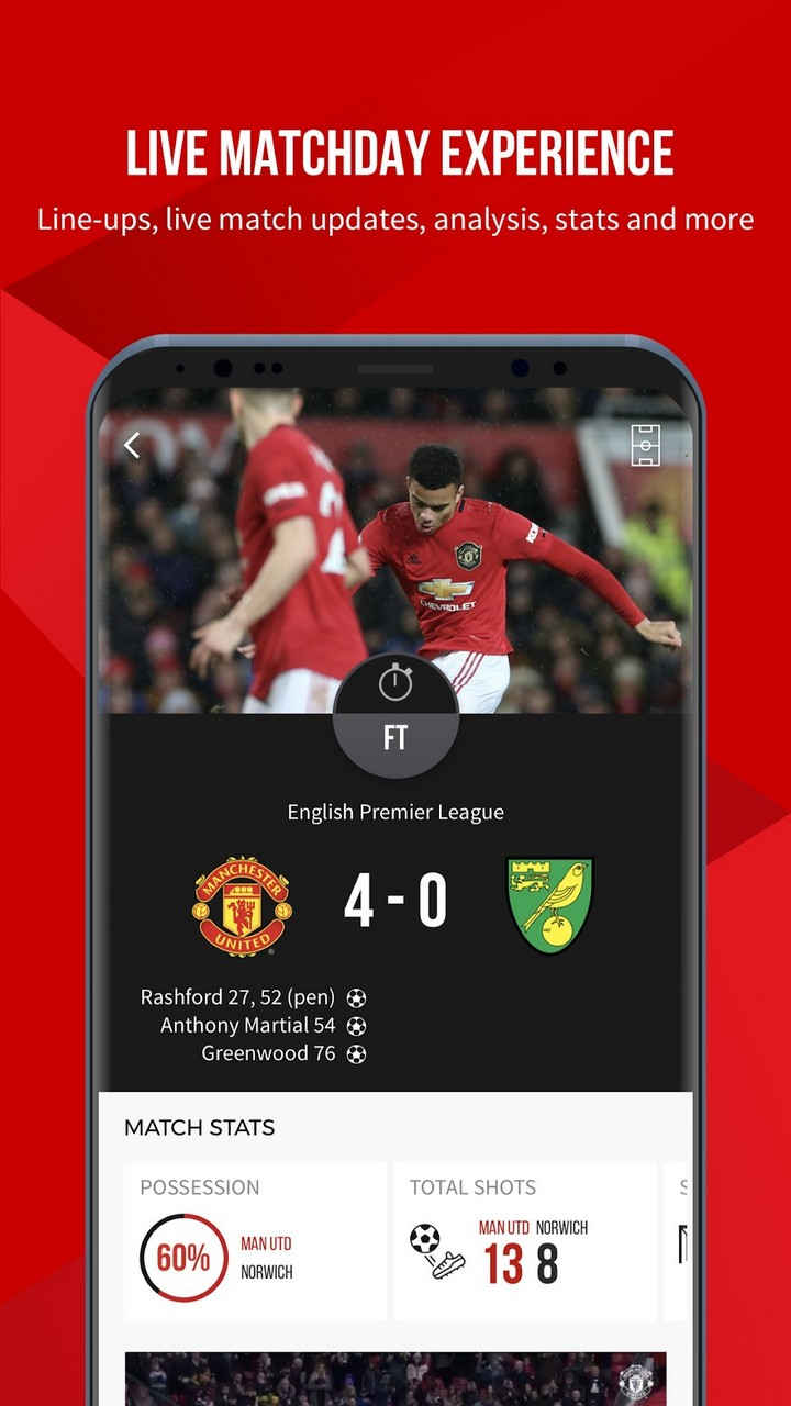Manchester United Official App Android App Apk Com Mu Muclubapp By Manchester United Limited Download On Phoneky