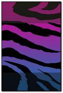 Zebra Purple - Lock Screen - iP4