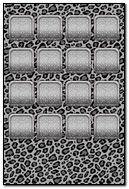 Black And Grey Cheetah Shelf