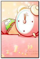 Cute frog cartoon, alarm clock