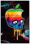 Apple logo skull HD