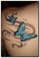 blue butterfly tattoo by KarateKid89