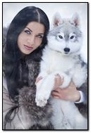 girl with wolf...