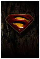 Grunge Superman Logo for iPhone