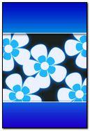 Blue Flower - Lock Screen - iP4