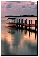 Moored boat scenery