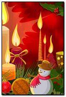 Candles 38 Snowman
