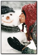 Snowman Kissed