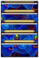 Spiral Blue Shelves