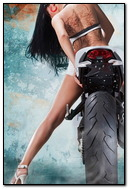 Hot Girl Riding Vilner Ducati Monster