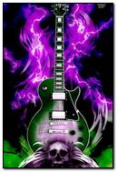 Guitar & Skulls