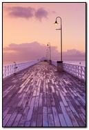 romantic bridge on the sea