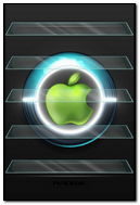 Apple logo neon
