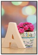 Letter A With Flower