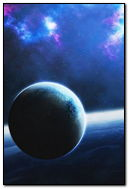 Ice Blue Outer Space Planets Earth