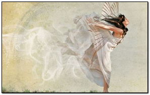 White Butterfly Girl